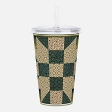 Patch Star Gold and Gr Acrylic Double-wall Tumbler