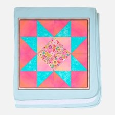 Sunset and Water Quilt Square.png baby blanket