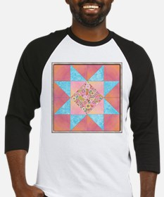 Sunset and Water Quilt Square Baseball Jersey