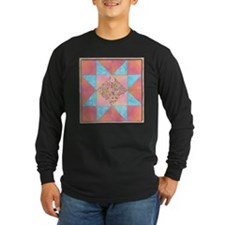 Sunset and Water Quilt Square Long Sleeve T-Shirt