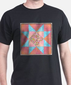 Sunset and Water Quilt Square T-Shirt