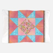Sunset and Water Quilt Square.png Pillow Case