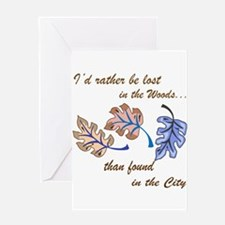 PACIFIC ISLAND LEAVES Greeting Cards