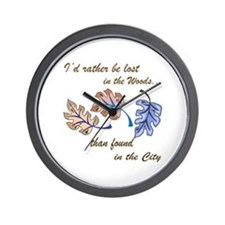 PACIFIC ISLAND LEAVES Wall Clock