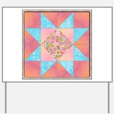 Sunset and Water Quilt Square.png Yard Sign