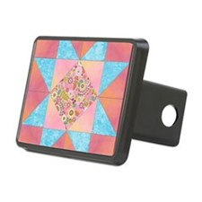 Sunset and Water Quilt Squ Hitch Cover