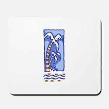 PACIFIC ISLAND PALM TREE Mousepad