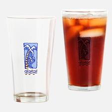 PACIFIC ISLAND PALM TREE Drinking Glass