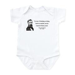 Henry David Thoreau 8 Infant Bodysuit
