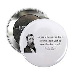 "Henry David Thoreau 8 2.25"" Button (100 pack)"