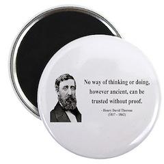 Henry David Thoreau 8 Magnet