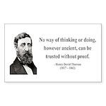 Henry David Thoreau 8 Rectangle Sticker