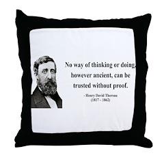 Henry David Thoreau 8 Throw Pillow