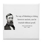 Henry David Thoreau 8 Tile Coaster