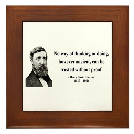 Henry David Thoreau 8 Framed Tile