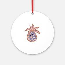 PACIFIC ISLAND PINEAPPLE Ornament (Round)