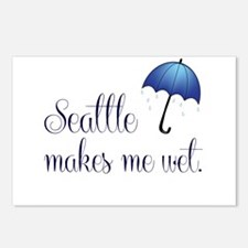Seatte Makes Me Wet Postcards (Package of 8)