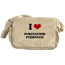 I love Portuguese Podengos Messenger Bag