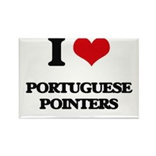 I love Portuguese Pointers Magnets