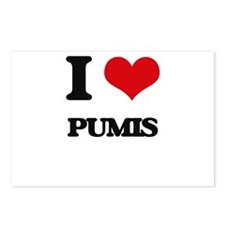 I love Pumis Postcards (Package of 8)