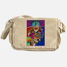 Psychedelic Doodle Messenger Bag