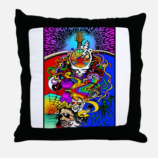 Psychedelic Doodle Throw Pillow