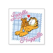 "Lovable & Huggable Square Sticker 3"" x 3"""