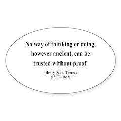 Henry David Thoreau 8 Oval Decal