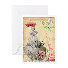 Pincushion and porcelain doll Greeting Card