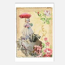 Pincushion and porcelain  Postcards (Package of 8)