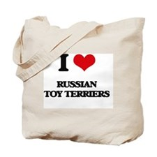 I love Russian Toy Terriers Tote Bag