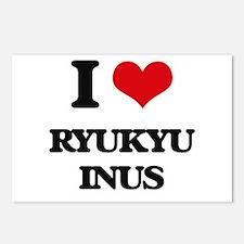 I love Ryukyu Inus Postcards (Package of 8)