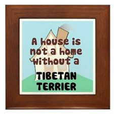 Tibetan Terrier Home Framed Tile