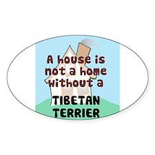 Tibetan Terrier Home Oval Decal