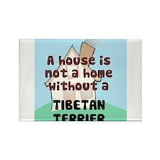 Tibetan Terrier Home Rectangle Magnet