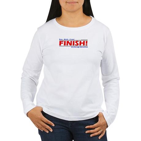 FINISH! Anchorage Marathon Women's Long Sleeve Tee