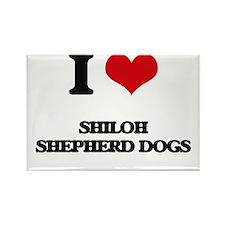 I love Shiloh Shepherd Dogs Magnets