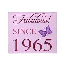 Fabulous Since 1965 Throw Blanket