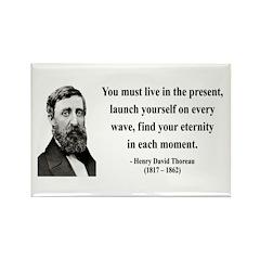 Henry David Thoreau 9 Rectangle Magnet (100 pack)