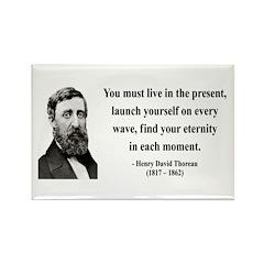 Henry David Thoreau 9 Rectangle Magnet