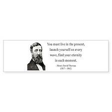 Henry David Thoreau 9 Bumper Bumper Sticker