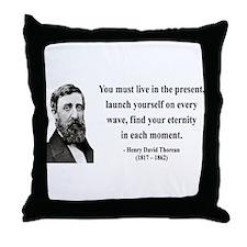 Henry David Thoreau 9 Throw Pillow