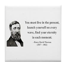 Henry David Thoreau 9 Tile Coaster