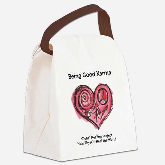Being Good Karma Canvas Lunch Bag
