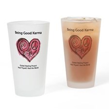 Being Good Karma Drinking Glass