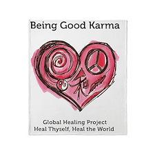 Being Good Karma Throw Blanket