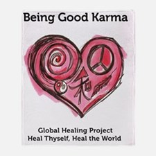 Being Good Karma Throw Blanket
