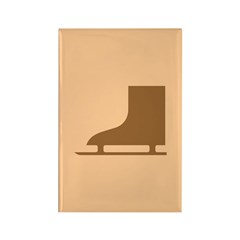 Brown Ice Skates Rectangle Magnet (100 pack)