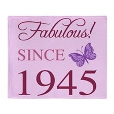 Fabulous Since 1945 Throw Blanket