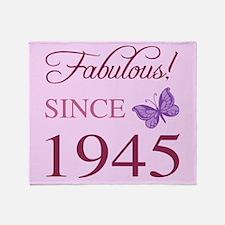 Fabulous Since 1945 Throw Blanket